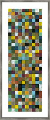 Rustic Wooden Abstract Tower Framed Print by Michelle Calkins