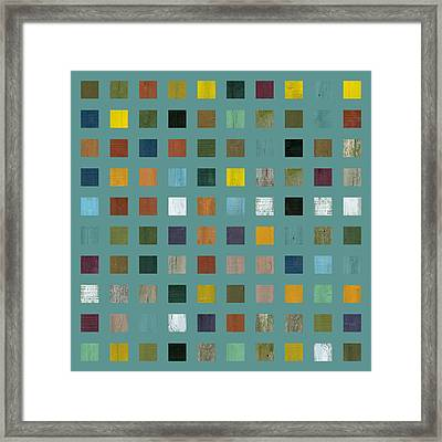 Rustic Wooden Abstract Vl Framed Print by Michelle Calkins