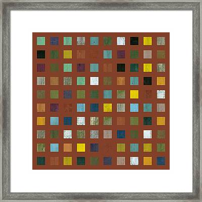 Rustic Wooden Abstract Vll Framed Print by Michelle Calkins