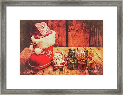 Rustic Xmas Decorations Framed Print by Jorgo Photography - Wall Art Gallery