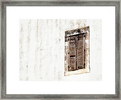 Finestra Rustica Framed Print