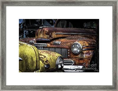 Rusting Away ... Framed Print