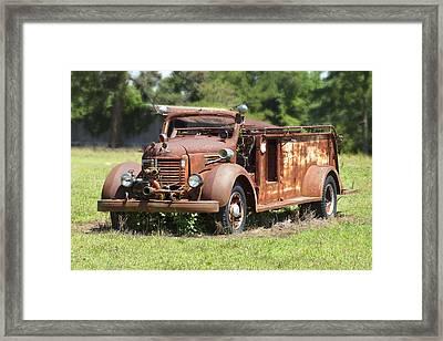 Rusting Away 2 Framed Print by Mike McGlothlen