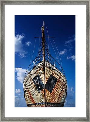 Rusting Boat Framed Print by Stelios Kleanthous