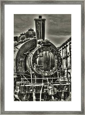 Rusting Locomotive Framed Print