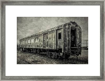 Rusting Passenger Car Ft Bragg Framed Print