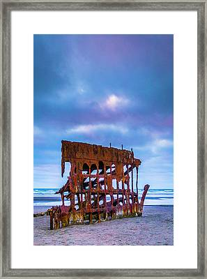 Rusting Peter Iredale Framed Print by Garry Gay