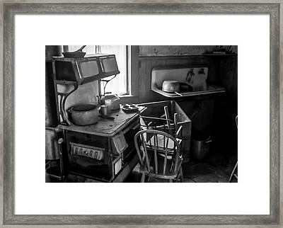 Rusting Pots And Pans, Bodie Ghost Town Framed Print
