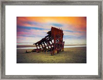 Rusting Shipwreck Framed Print by Garry Gay