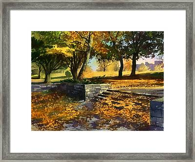 Framed Print featuring the painting Rustling Of Autumn Leaves by Sergey Zhiboedov