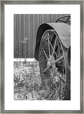 Rustology - The Aesthetics Of Rusty Line And Form Bw Framed Print