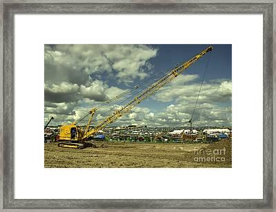 Ruston Dragline  Framed Print