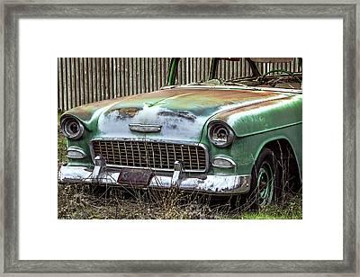 Rusty 55 Chevy Framed Print