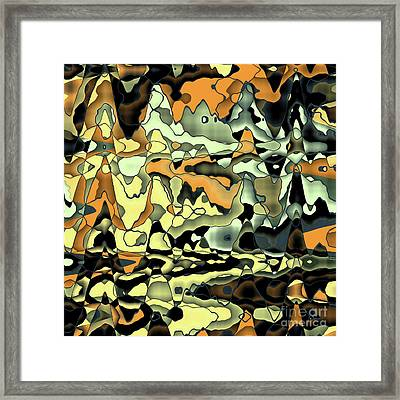 Rusty Abstract Framed Print by Gaspar Avila