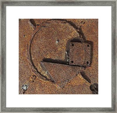 Square Triangle And Circle Framed Print by Sandra Church