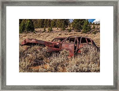 Rusty Automobile Framed Print by Sue Smith