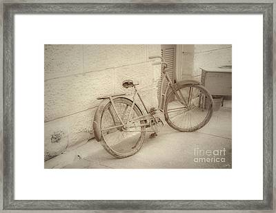 Rusty Bicycle Framed Print