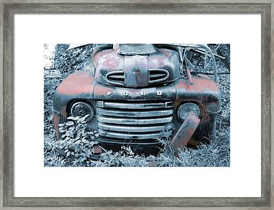 Rusty Blue Ford Framed Print