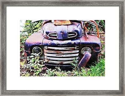 Rusty Blue Framed Print