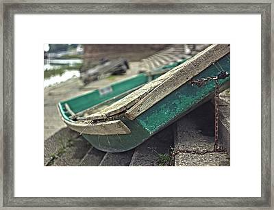 Rusty Boat Framed Print by Thubakabra