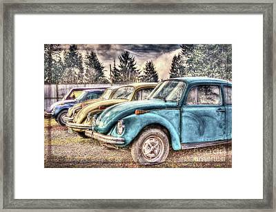 Framed Print featuring the photograph Rusty Bugs by Jean OKeeffe Macro Abundance Art