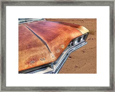 Rusty Buick Framed Print by Gill Billington