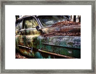 Rusty Cadillac Framed Print