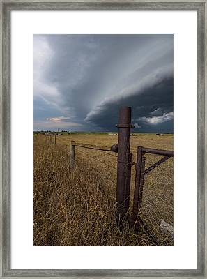 Framed Print featuring the photograph Rusty Cage  by Aaron J Groen
