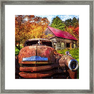 Rusty Chevy  Framed Print
