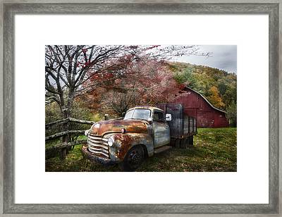Rusty Chevy Pickup Truck Framed Print