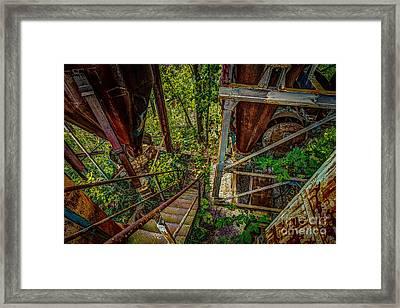 Rusty Climb Framed Print