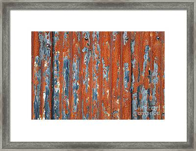 Rusty Corrugated Tin Framed Print