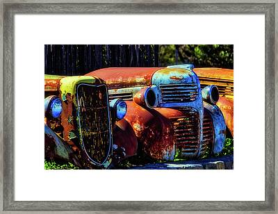 Rusty Dodge Framed Print by Garry Gay