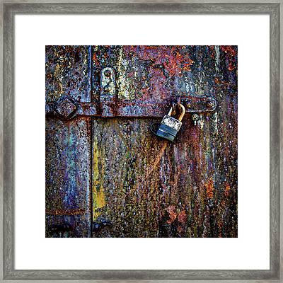 Rusty Door Of The Gun Battery 1.1 Framed Print by Robert Anastasi