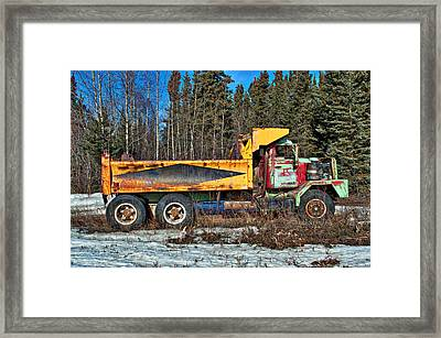 Rusty Dump Truck Framed Print