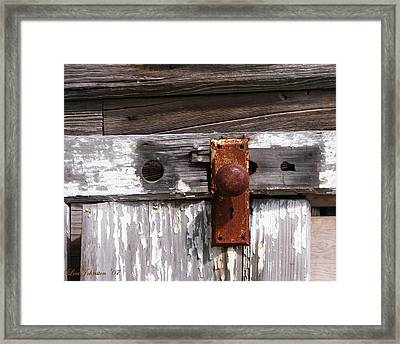 Rusty Entry Framed Print by Lisa Johnston