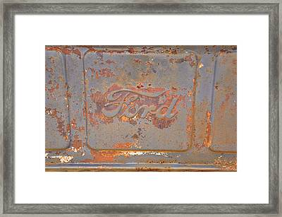 Rusty Ford Framed Print by Jan Amiss Photography