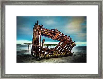Rusty Forgotten Shipwreck Framed Print