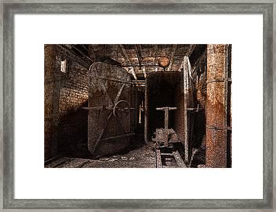 Rusty Grunge Mill Framed Print by Nicolas Raymond