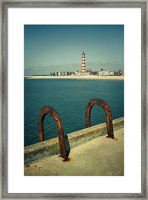 Rusty Handrails Framed Print by Carlos Caetano