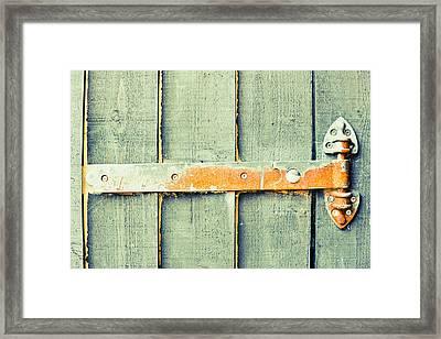 Rusty Hinge Framed Print by Tom Gowanlock