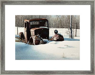 Rusty In Alberta Framed Print