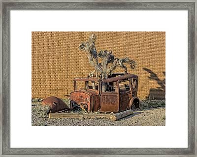 Rusty In The Desert Framed Print