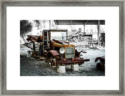 Rusty International Truck Framed Print