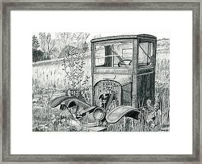 Rusty Framed Print by Jeff Blazejovsky