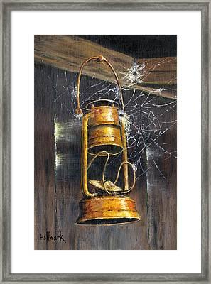 Rusty Lantern Framed Print by Bob Hallmark
