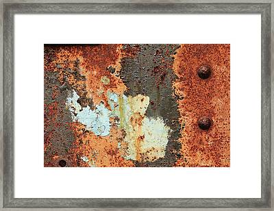 Rusty Layers Framed Print