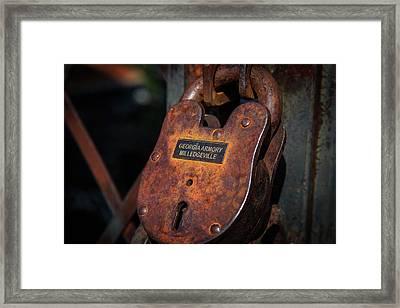 Rusty Lock Framed Print