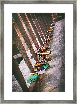 Rusty Love In Verona Framed Print by Carol Japp
