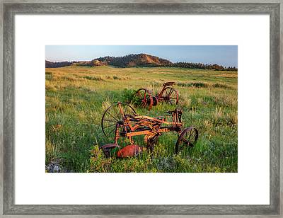 Rusty Machinery Framed Print by Todd Klassy